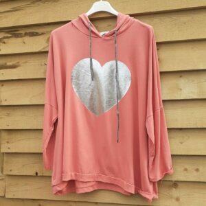 Studio Pink Foiled Heart Hoodie