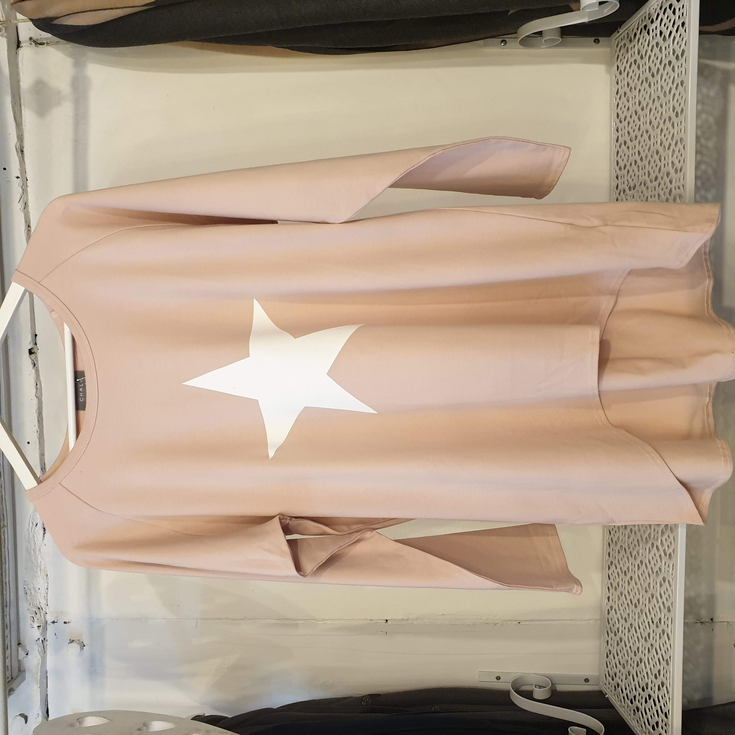 Chalk Robyn Pink Giant Star Top