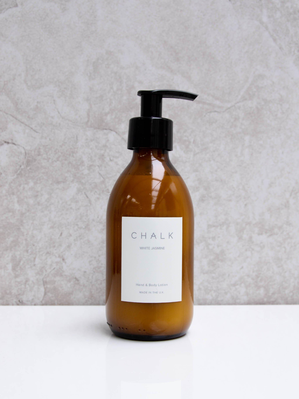 Chalk 250ml Amber Glass Hand and Body Lotion | White Jasmine