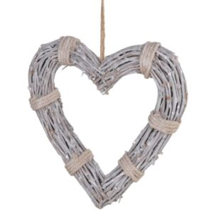 Coachhouse Rope Tied Willow Heart