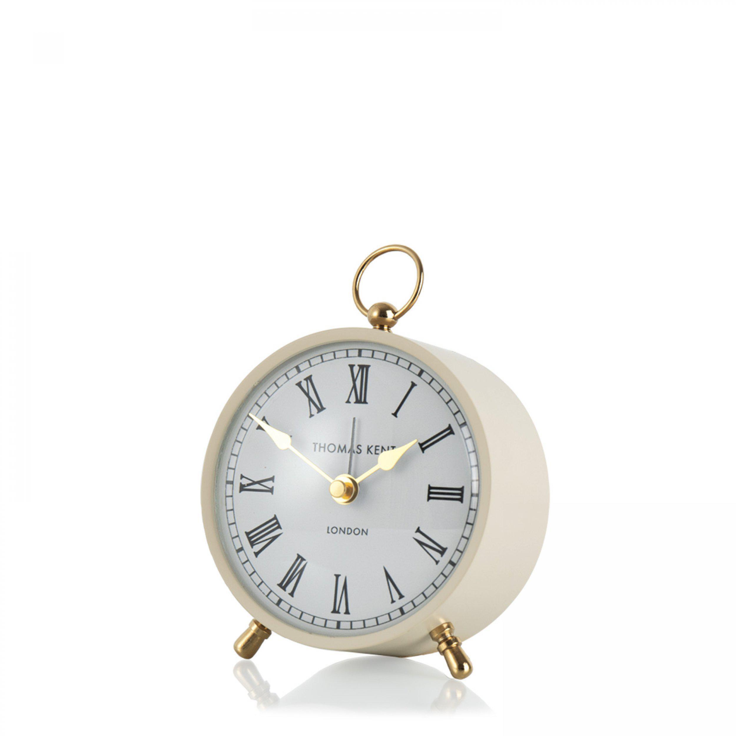 """Thomas Kent 4"""" Wren Mantel Clock Taupe"""