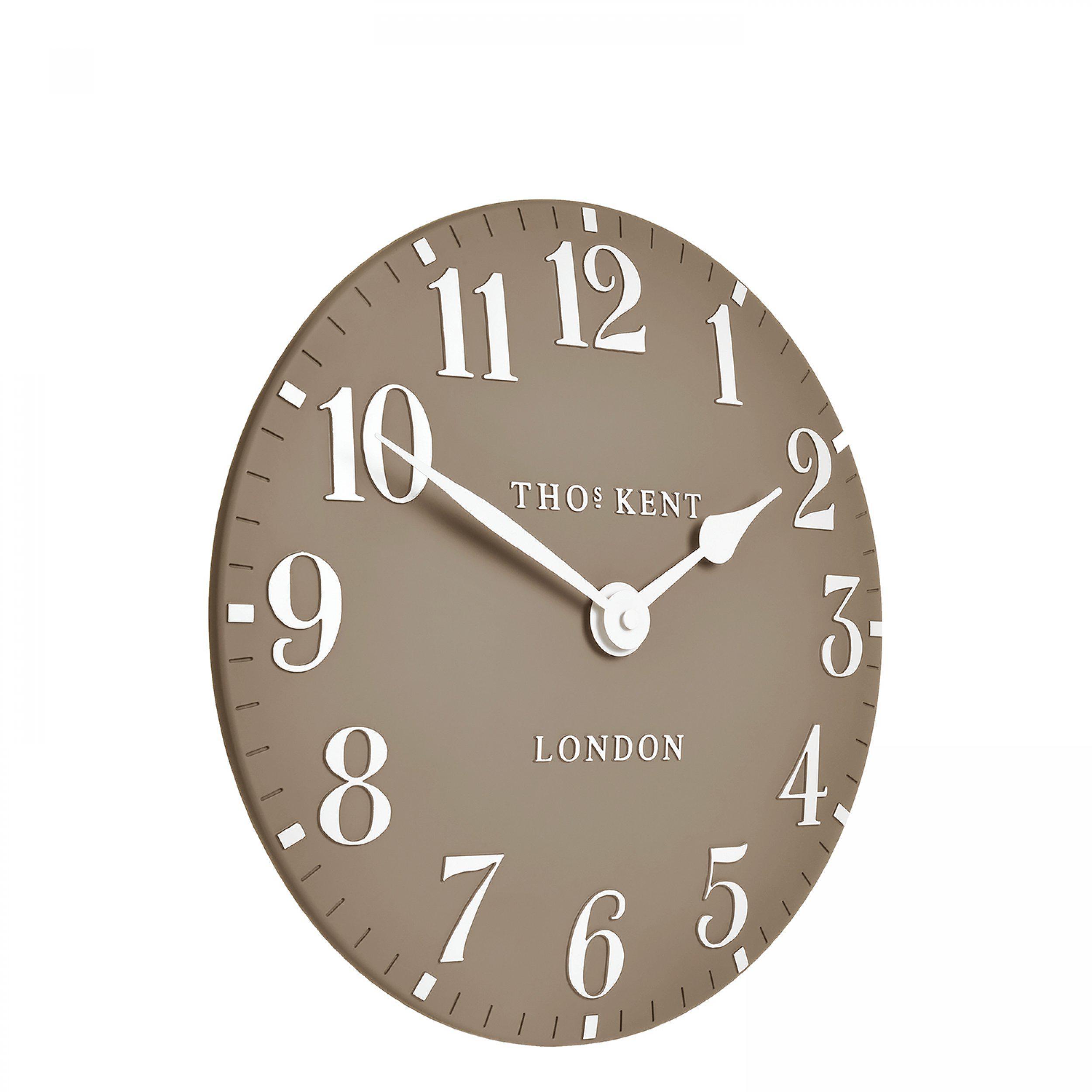 "Thomas Kent 12"" Arabic Wall Clock Clay"