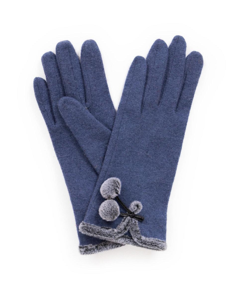 Powder Betty Navy Wool Gloves