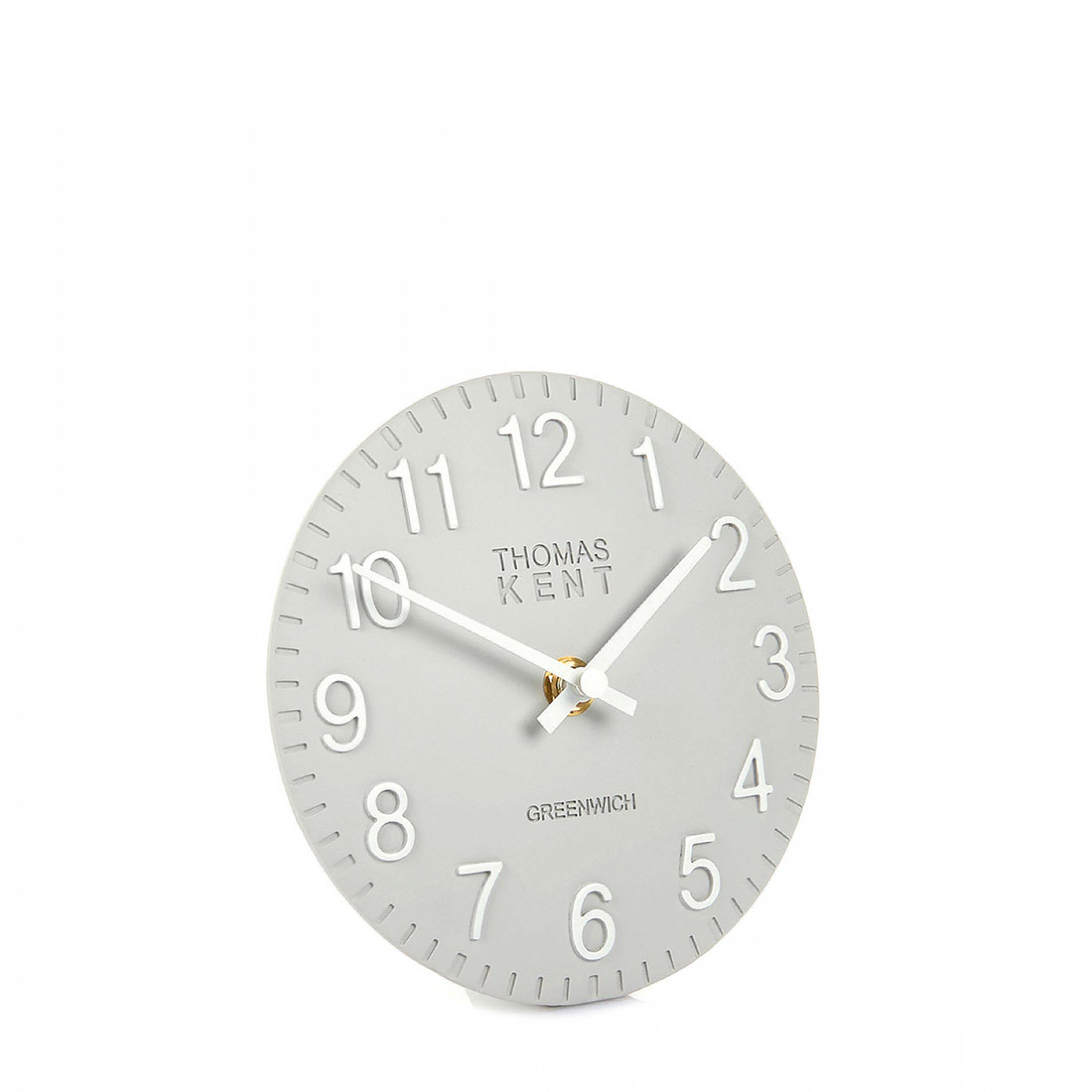 "Thomas Kent 6"" Cotswold Mantel Clock Smokem"