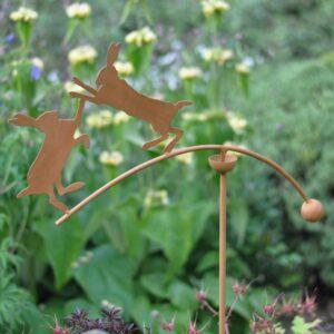 Woodlodge Dancing Hares Rusted Rocker