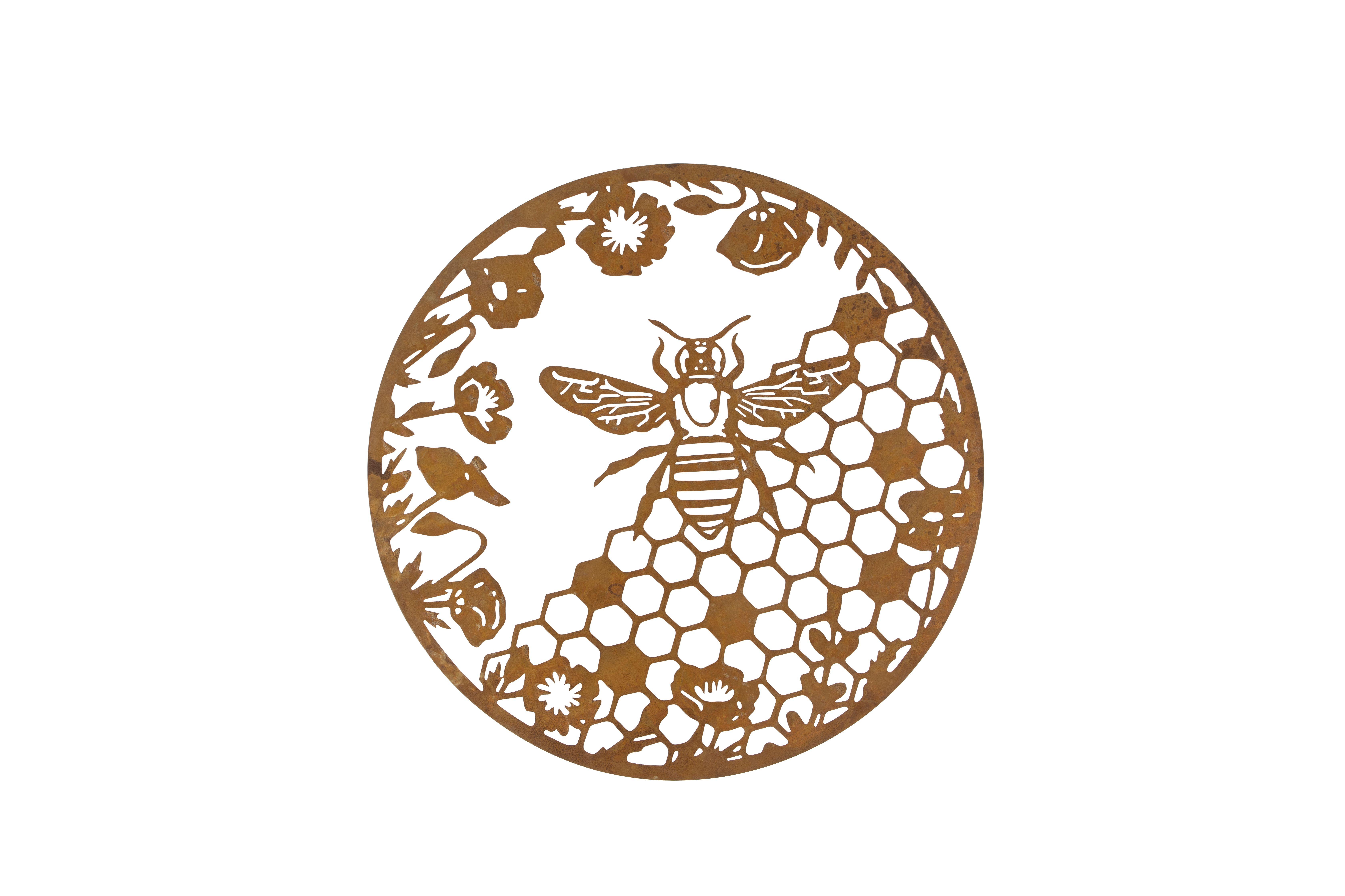 London Ornaments Honeycomb Garden Wall Plaque