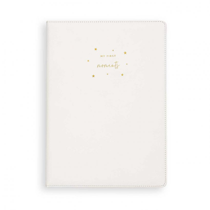 Katie Loxton A4 Baby Keepsake Book | My First Moments | White