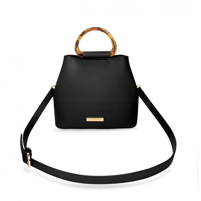 Katie Loxton Tori Tortoiseshell Bag   Black