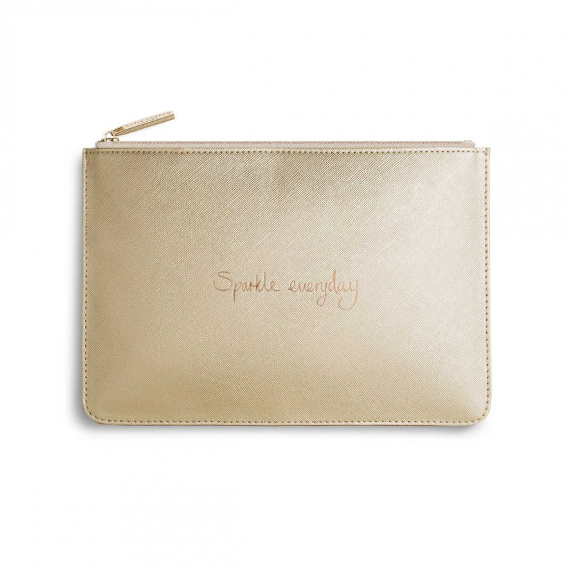 Katie Loxton Perfect Pouch | Sparkle Everyday | Metallic Gold