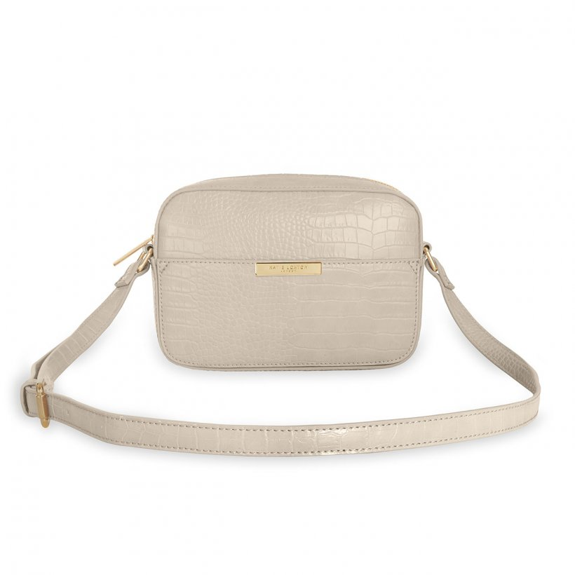 Katie Loxton Celine Faux Croc Crossbody Bag | Oyster Grey