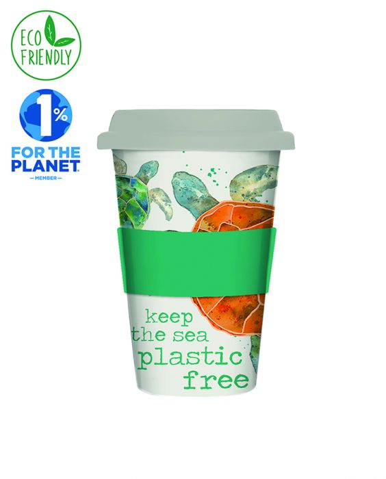 Milly Green Eco Turtle Bamboo Travel Mug