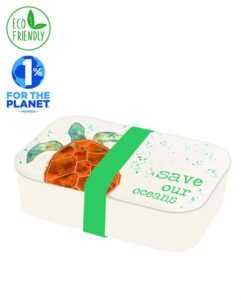 Milly Green Eco Turtle Bamboo Lunchbox