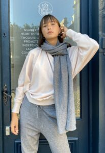 Chalk Suzy Supersoft Scarf Charcoal