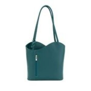 Moda leather hand bag- teal