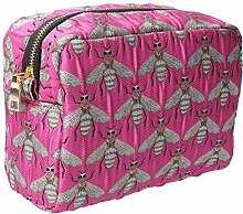 Gisela Graham Pink Bee Cosmetic Bag
