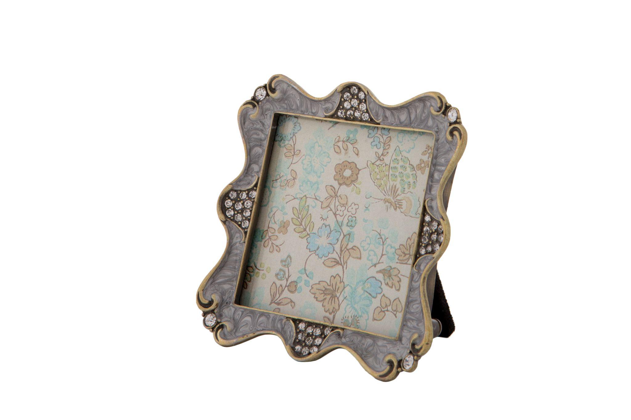 London Ornaments Grey Diamante Frame