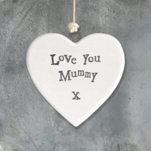 East of India Small Porcelain Heart Love You Mummy