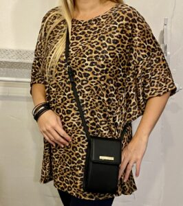 Made In Italy leopard print top