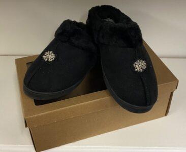 Jo & Joe Black Suede Slippers Size 4