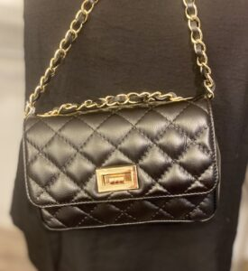 Black Chanel Style Handbag