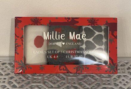 Millie Mae Set of 3 Pairs of Ladies Socks
