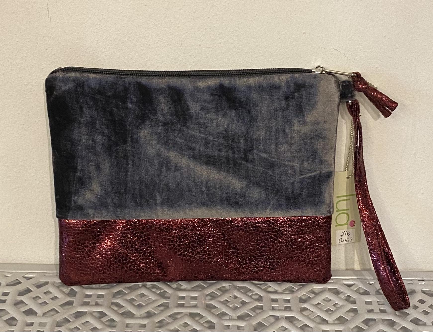 Lua Black Velvet mini Handbag