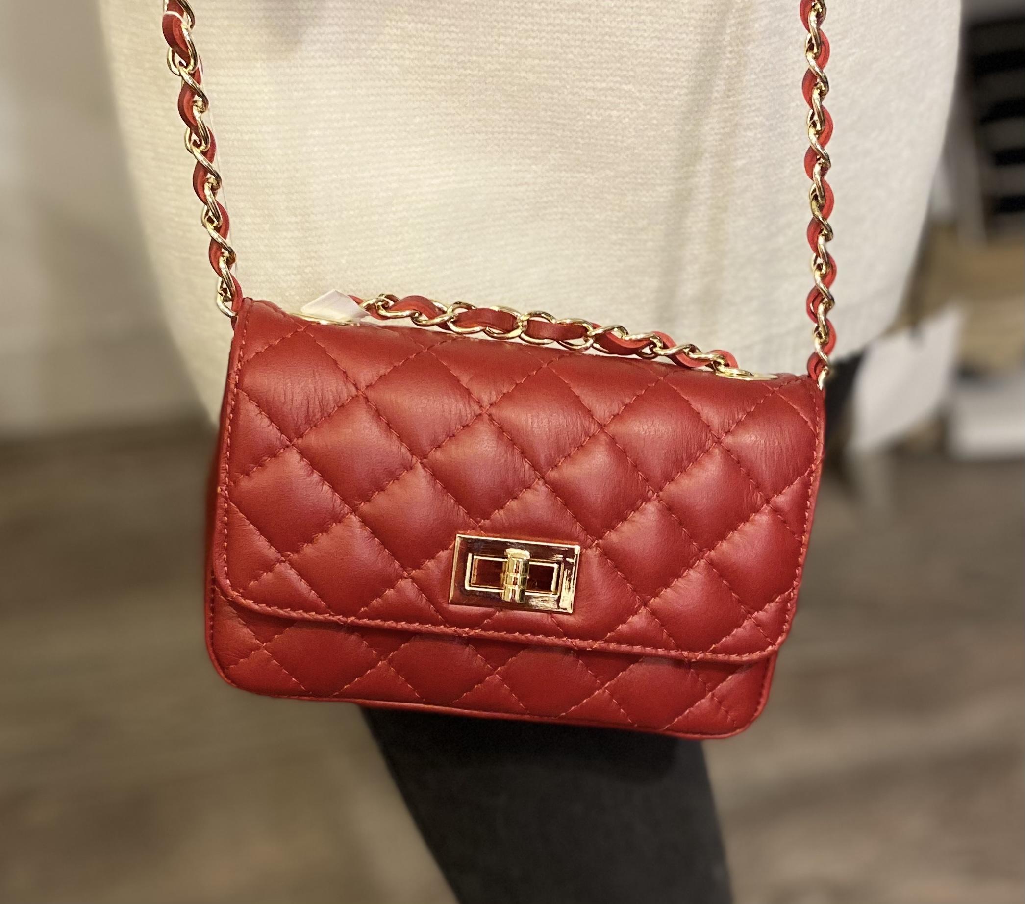 Red Chanel Style Handbag