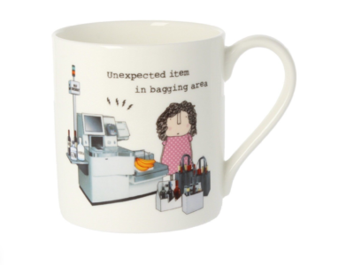 """Rosie Made A Thing """"Unexpected item in bagging area"""" Mug"""