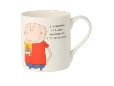 """Rosie Made A Thing """"I'm Worried ...... Double Sided Mug"""