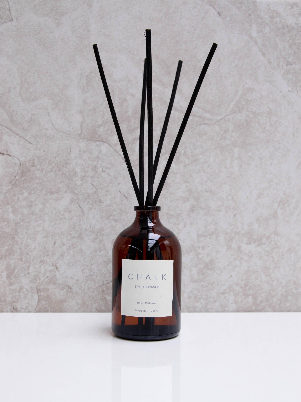 Chalk 100ml Amber Glass Diffuser Spiced Orange