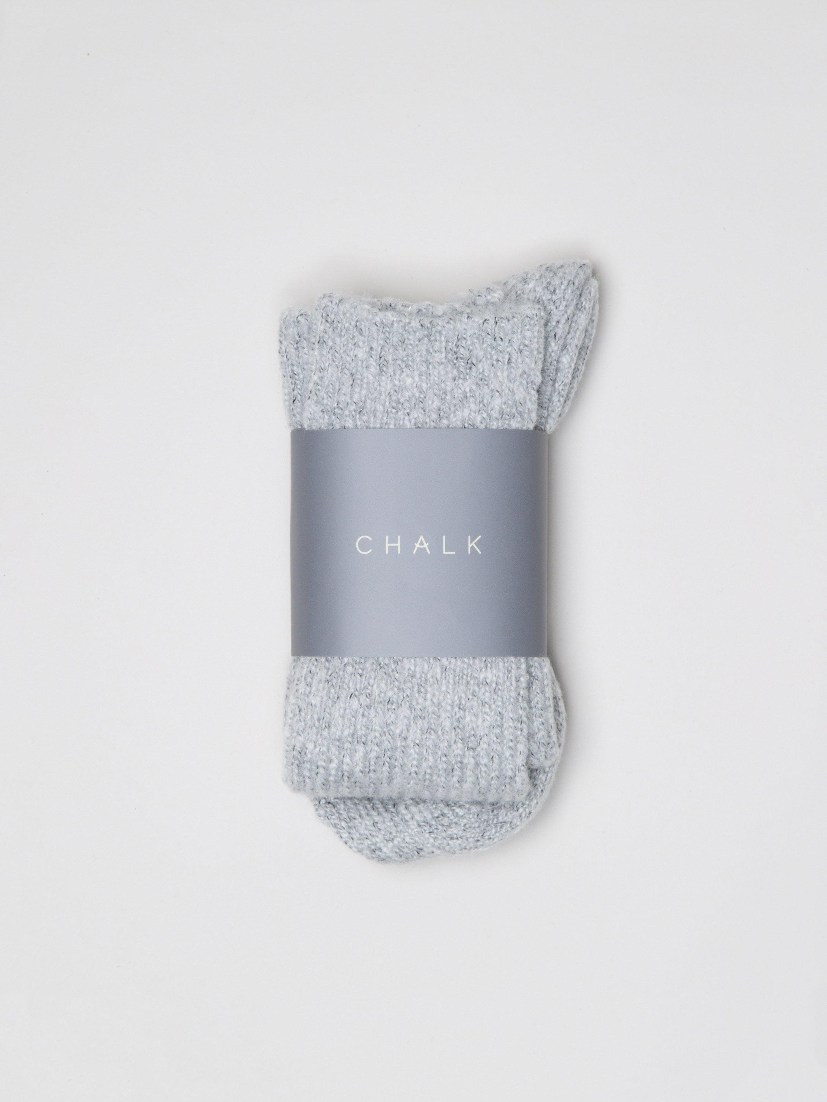 Chalk Cosy Socks Silver