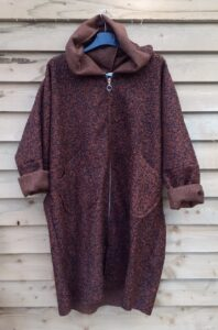 Diverse Brown Hooded Coat