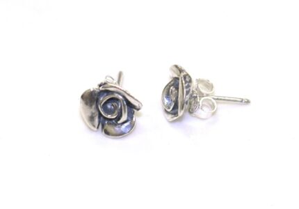 Aviv Silver Rose Studs