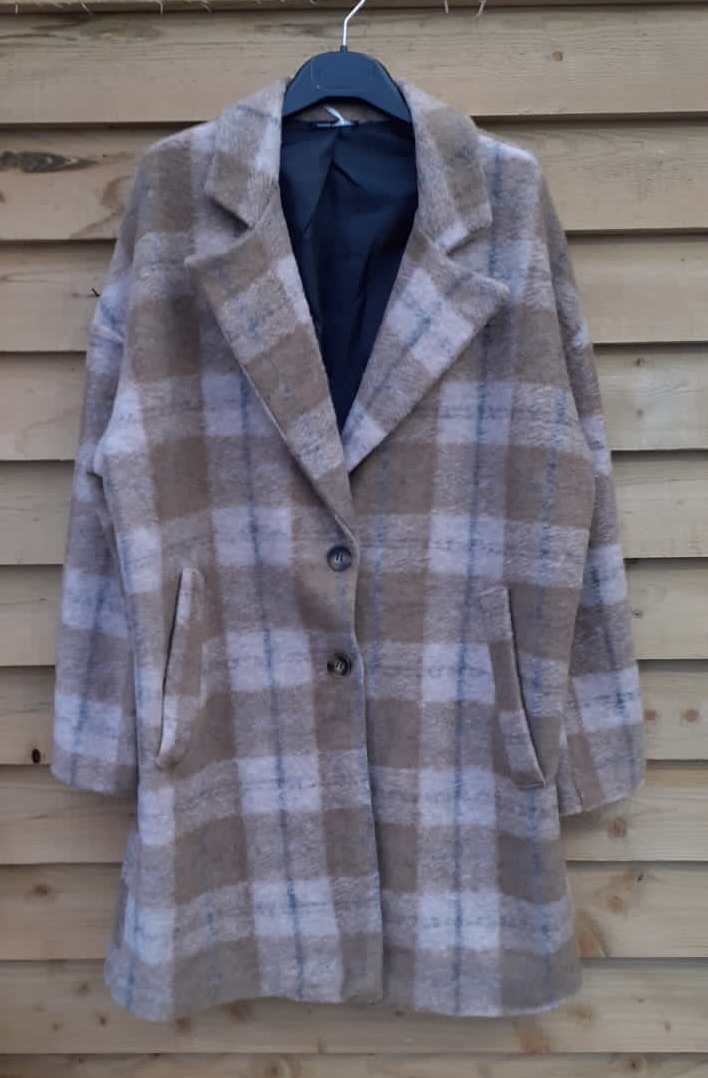Diverse Brown Checked Coat