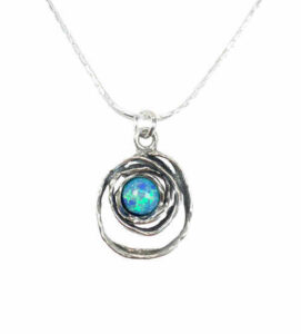Aviv Sterling Silver necklace with Opal