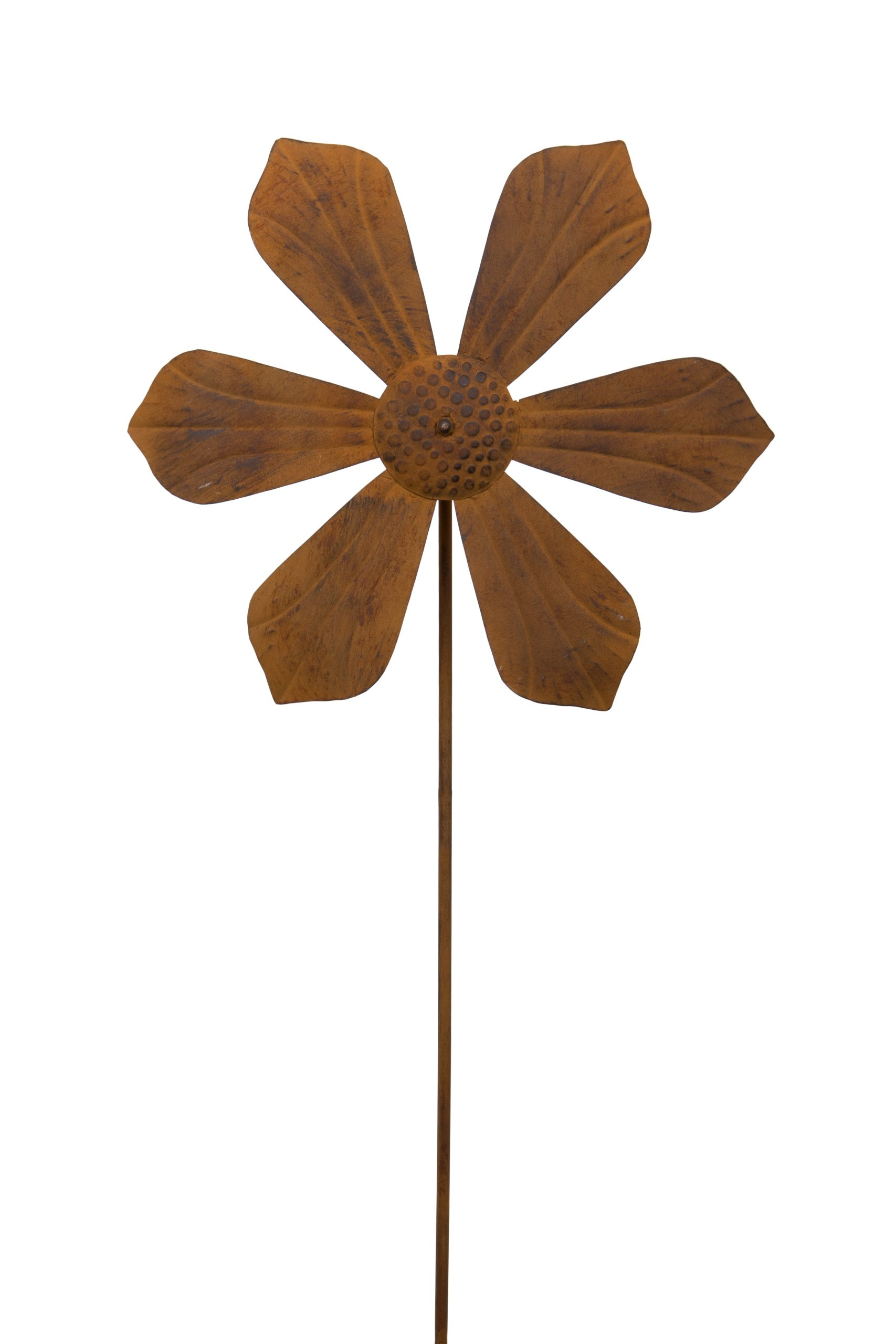 London Ornaments Rusted Flower Spinner