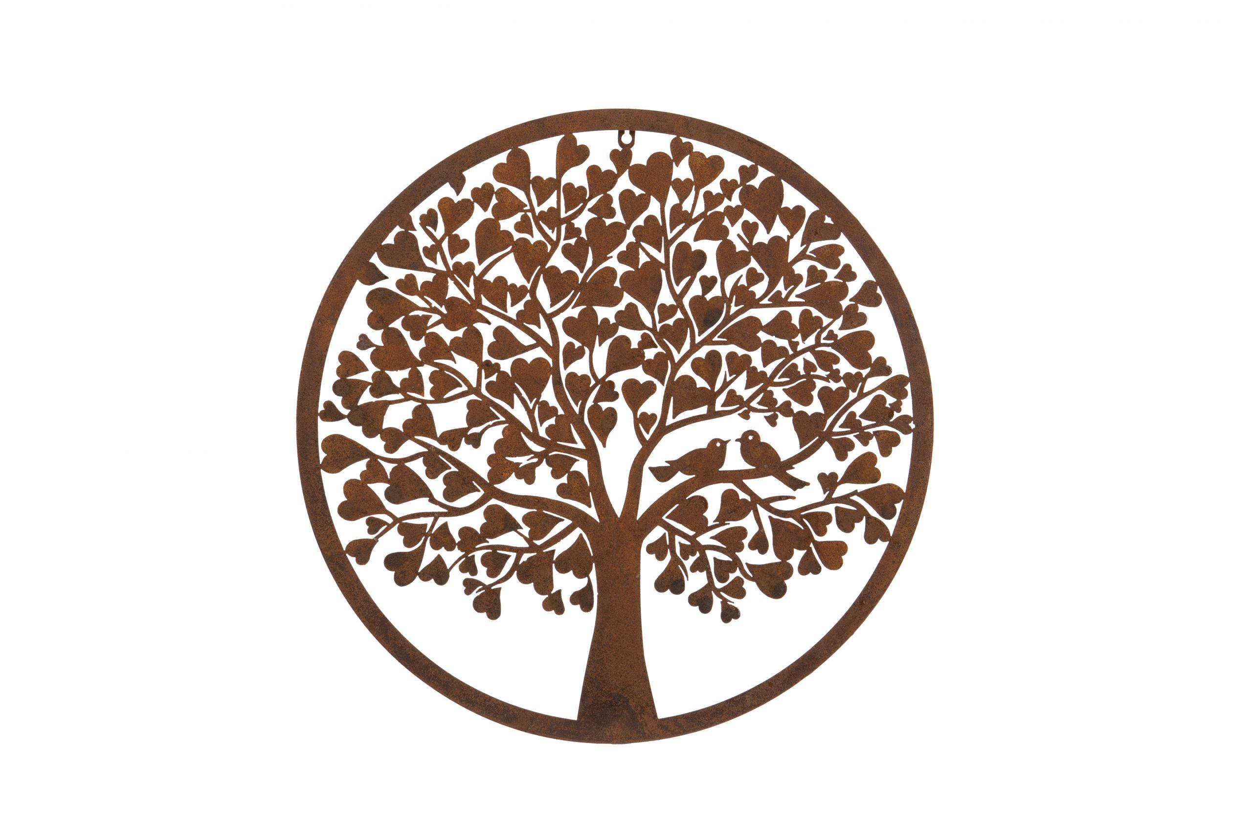 Rust Heart Tree wall plaque