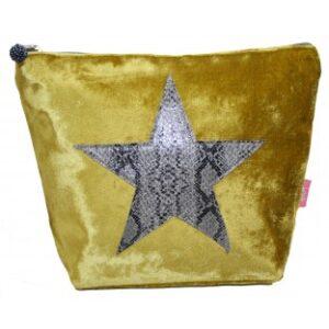 Lua Large Velvet Cosmetic Bag