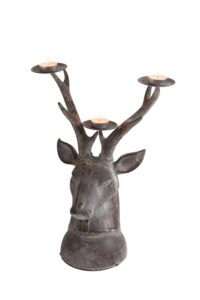 London Ornaments Stag Head Candle Holder