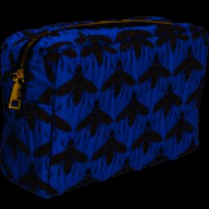 Gisela Graham Blue Bee Cosmetic Bag