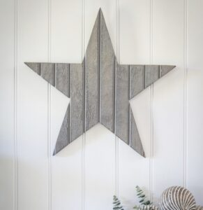 Retreat Tongue & Groove Style Wall Star