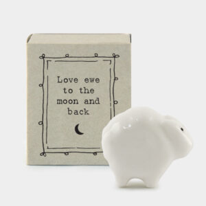 East of India 'Love ewe to the moon and back' matchbox