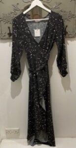 Black Wrap Dress Night Sky Design