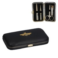 Gisela Graham Black & Gold Bee Manicure Set
