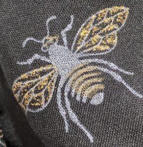 Reevo Black Lightweight Bee Print Scarf