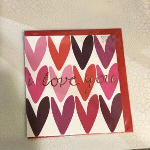 Caroline Gardner Valentne's Card I Love You