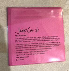 Jaab Cards 'Beaded Hearts' Valentines Card