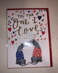 Louise Tiler Valentine's Card