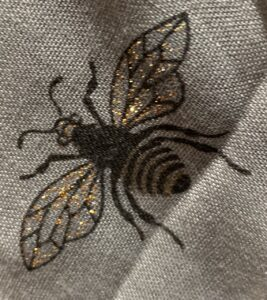 Reevo Grey Lightweight Bee Print Scarf