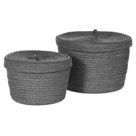 Coach House Grey Recycled Lidded Basket